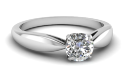 0.40 Ct  FG/SI 18K White Gold Natural Round Diamond Solitaire Engagemen... - $1,011.00