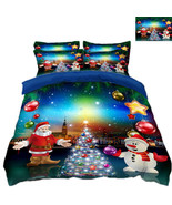 3D Christmas  Xmas 330 Bed Pillowcases Quilt Duvet Cover Set Single Quee... - $90.76