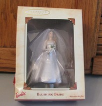 Hallmark Blushing Bride Keepsake Ornament 2002 Porcelain & Fabric w Box - $8.90