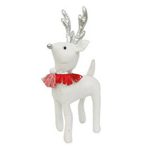 """Wondershop Large 16"""" Fabric Standing Christmas Deer Reindeer - Sequin - White"""