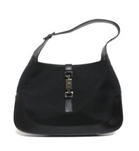 Gucci Black Satin Leather Hobo Shoulder Bag - $96.04