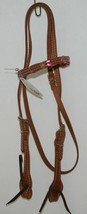 Pioneer Horse Tack Product Number 3852 Leather Headstall Reins Pink Leather Lace image 1