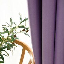CURTIANS Style Purple Modren black out shading solid color window screen... - $30.10