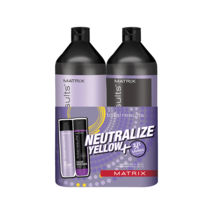 Matrix Total Results so Silbern Shampoo, Haarspülung Liter Duo - $37.17+