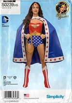 Simplicity S0239 Misses' Wonder Woman Costume Sewing Pattern 6-14 - $49.25
