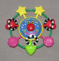 MANHATTAN TOY WHOOZIT BABY RATTLE TEETHER GRASPING TOY SQUEAK ROCK SPIN TOP - $23.50