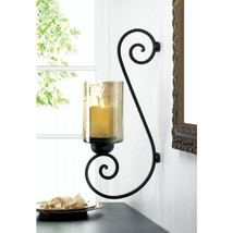Iridescent Glass Scroll Wall Sconce - $30.00
