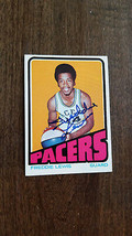 1972-73 Topps Signed Card Freddie Lewis Pacers Spirits Royals Aba Arizona St 219 - $39.59
