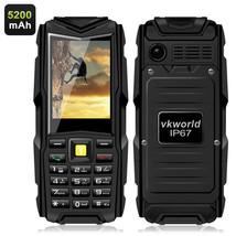 "VKworld Stone V3 Waterproof Quad Band GSM 2.4"" Bluetooth Phone (Black) - $78.71"