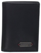 Tommy Hilfiger Men's Leather Credit Card Id Wallet Trifold Black 4699/01