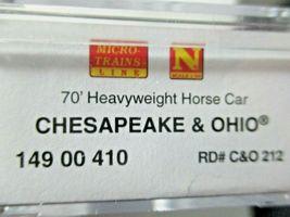 Micro-Trains #14900410 Chesapeake & Ohio 78' Heavyweight Horse Car N-Scale image 5