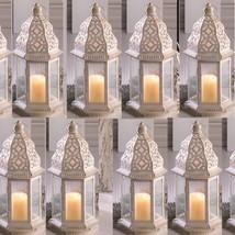 "Lot 15 Sublime 12"" White Distressed Lantern Candle Holder Wedding Center... - $186.12"