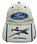 Vintage Snap Back All American B24 Liberator Bomber Hat Cap Airplane ww2  - $23.74