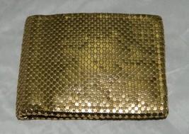 VTG WHITING & DAVIS Gold Metal Mesh Wallet Bill Fold - $35.64
