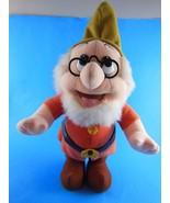 "Vintage Doc Dwarf 10"" Plus Hat Plush Stuffed Toy  Disney Mattel - $9.69"