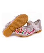 Old Beijing Embroidered Cloth Shoes Kid Magic Tape   5807 silver - £15.30 GBP