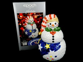 Mr. Snowman Porcelain Cookie Jar, #E115 Epoch Collection by Noritake, Wi... - $34.25