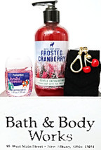 Bath and Body Works Frosted Cranberry Hand Soap, PocketBac & Cherry Case... - $19.16