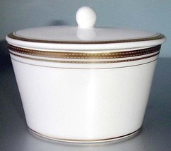 Royal Doulton Monique Lhuillier Ruban D'or Covered Sugar Bowl New - $42.90