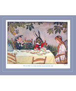 Mad Hatter's Tea Party Milo Winter 1916 Alice Book Art Print March Hare ... - $11.90