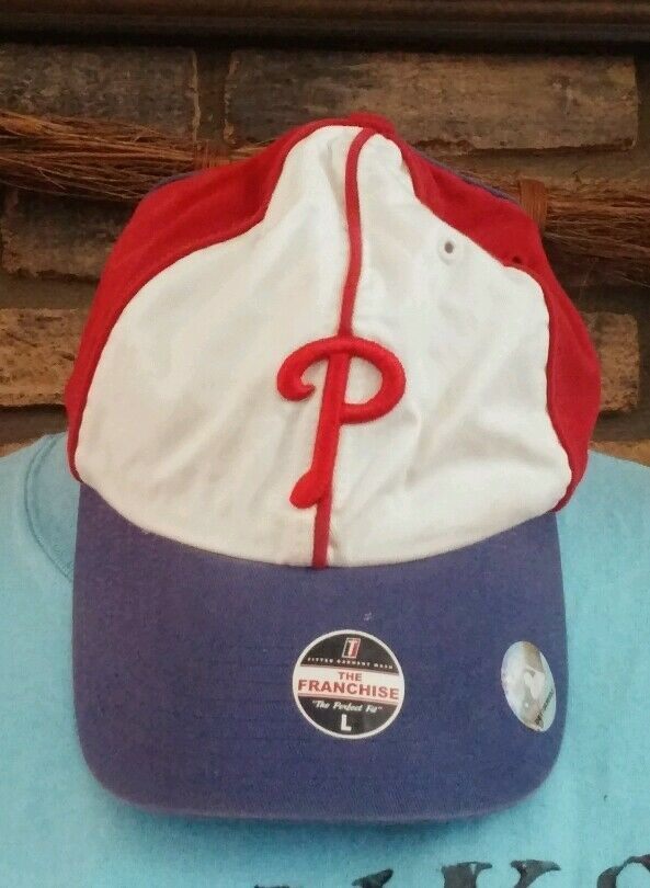 Philadelphia Phillies Red/Royal The Franchise Perfect  Fit Hat -Size Large