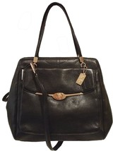 Coach Madison North/South Satchel in Leather (Black) - $484.11