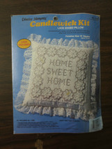 Creative Moments HOME SWEET HOME Candlewick Cross Stitch PILLOW Kit 8268... - $11.88