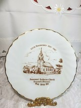 VINTAGE DECORATIVE PLATE ST IMMANUEL LUTHERAN CHURCH AURORAVILLE, WISCONSIN 1987 image 2
