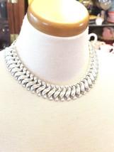 Striking Pakula Silver Tone Vintage Necklace - $20.70