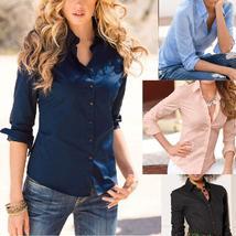 New Fashion Women Blouse Long Sleeve Office Shirt Casual Tops