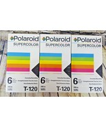 Lot of 3 Polaroid Supercolor Blank Videocassette Vhs Tape T-120 Sealed New - $9.89