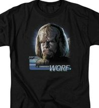 Star Trek The Next Generation Sci-Fi LT. Commander Worf graphic t-shirt CBS614 image 3