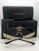 New VERSACE Sunglasses VE 4333 GB1/87 55-21 145 Black & Gold Frame w/Gra... - $244.95