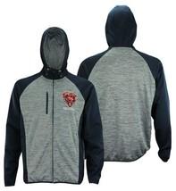 Chicago Bears NFL Men's Zipdown Hoodie Heathered Hooded Jacket Football NEW