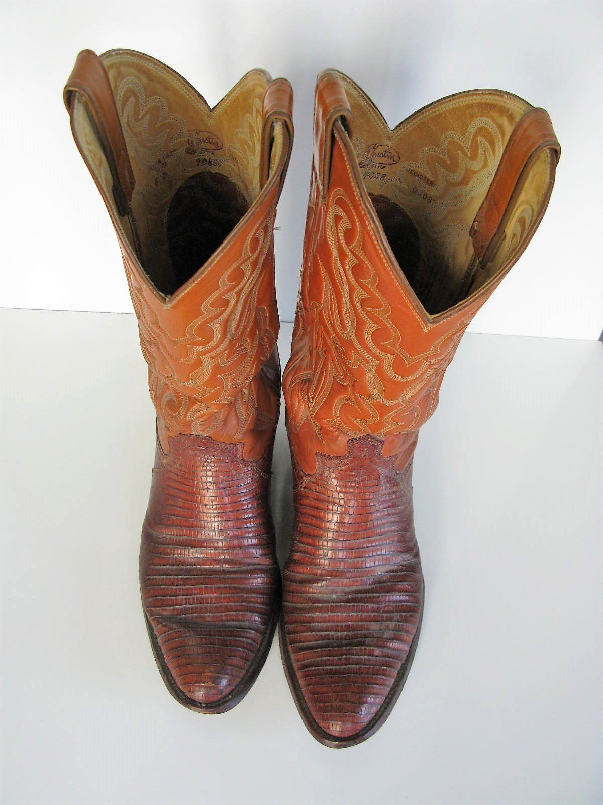 b9a28f4ea4c Cowboy Boots JUSTIN Lizard & Stitched and 50 similar items