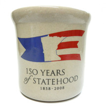 "Red Wing Pottery Crock Commemorative Miniature 3"" Minnesota Statehood 2008 - $20.00"