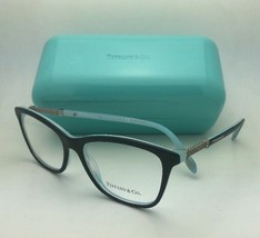 TIFFANY & CO. Eyeglasses TF 2116-B  8193 53-16 140 Black on Blue w/ Crys... - $199.99