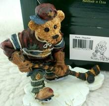 Vintage Ice Hockey Boyds Bears Figurine Player Skater Puck Slapshot Ice Skates - $24.74