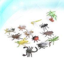 12Pcs Realistic Insects and Bugs Figures Plastic Animal Toys for Decoration - £16.25 GBP