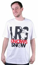 LRG Knows Snow Tee Shirt in White Size: S