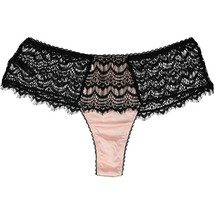 bc2c9e4f66c5 MIMI HOLLIDAY Bisou Bisou Sugar Pink Silk Blend with Black Lace Boyshort...  -