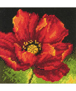 "Dimensions Mini Needlepoint Kit 5""X5""-Red Poppy Stitched In Floss - $11.57"