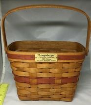 Longaberger 1989 Holiday Memory Basket Retired - $21.56