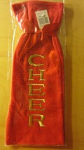 Christmas Holiday Bottle Bag New in Package Red Cheer Bow - $76,81 MXN