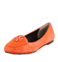 Tory Burch Fitz Suede Logo Loafer, Poppy Red - $130.00