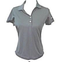 Nike Dri Fit SIEMENS Womens S/P Small Petite Black Polo Shirt Top Blouse - $16.33