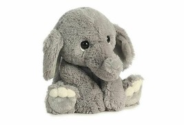 "Elephant Plush Toy babies kids baby shower "" Lil Benny Phant "" super soft gray - $11.71"