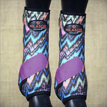 Medium Hilason Horse Front Leg Sport Boot Ultimate Zigzag Purple U-UR-M - $49.95