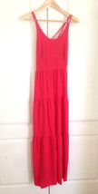 Ann Taylor LOFT Maxi Dress 4 Tiered Bright Red ... - $34.95