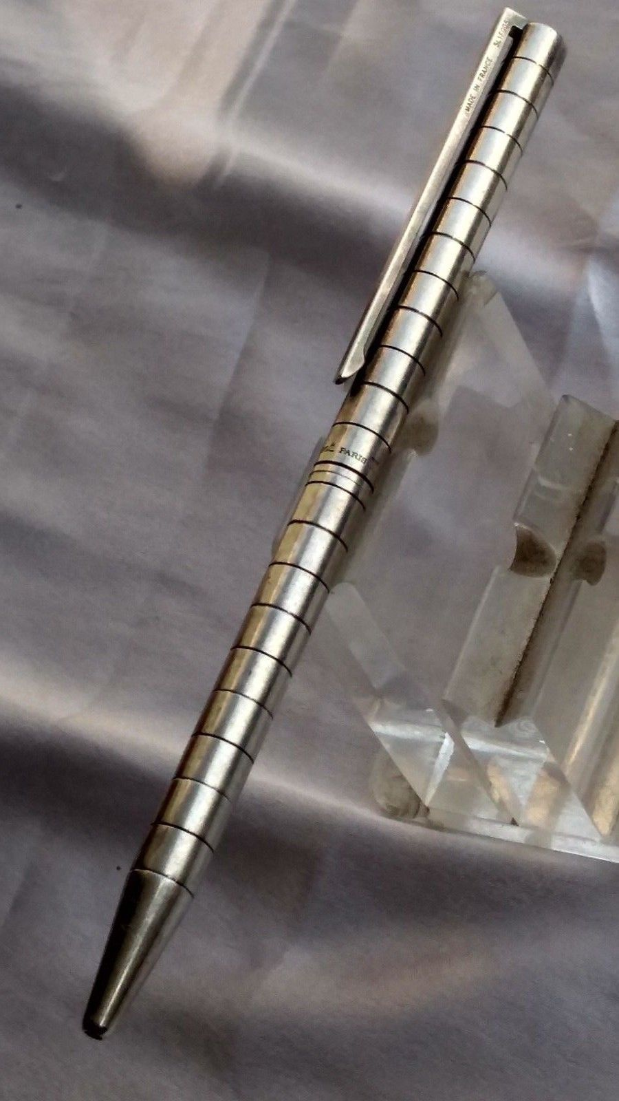 Vintage S.T. Dupont classic silver Ball point pen